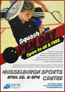 Musselburgh Open Day Poster - April 2016
